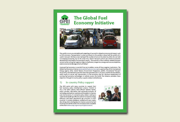 The Global Fuel Economy Initiative