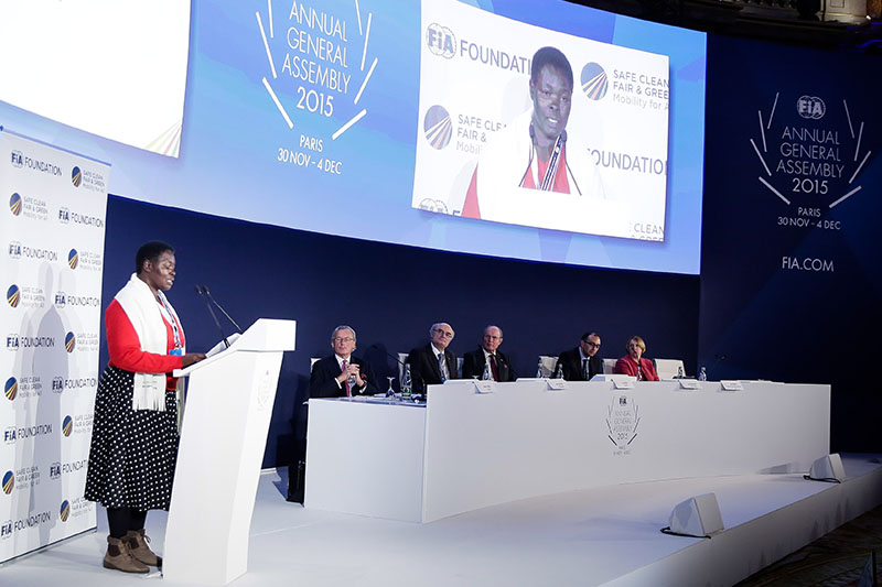 Ugandan Minister represents GFEI at FIA Foundation AGM