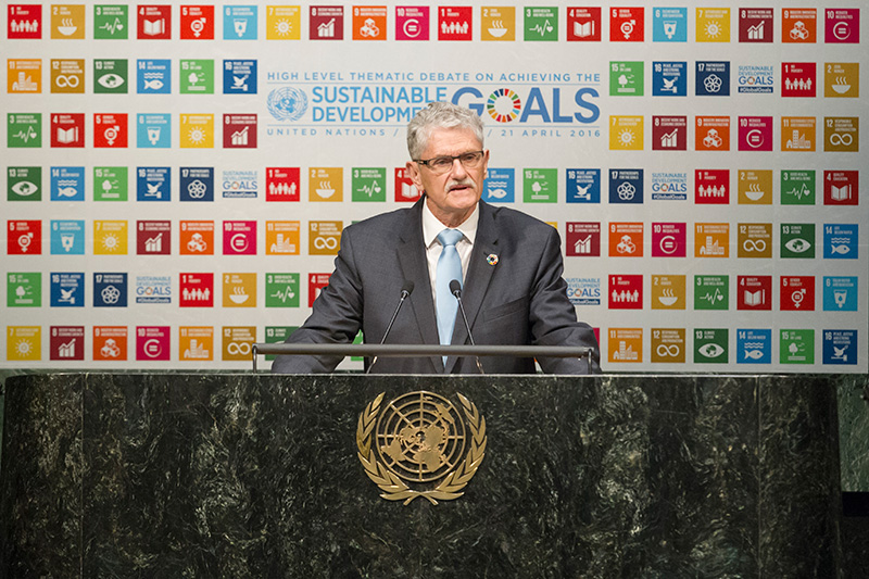 President of the United Nations General Assembly, H.E. Mogens Lykketoft hosted the High Level Debate on achieving the SDGs.
