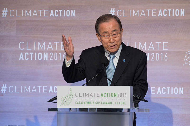 Secretary General calls for urgent Climate Action