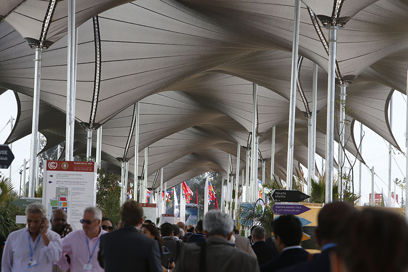 Delegates arriving at the COP22 conference in Marrakech.