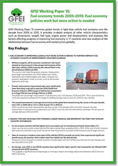 Paper 15 Summary: Fuel economy policies work but more action is needed