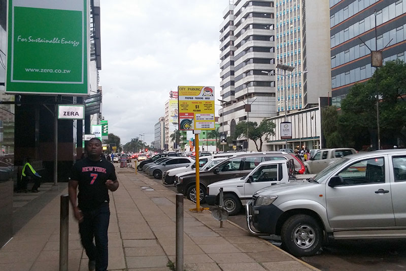 The street outside the Zimbabwe Energy Regulatory Authority.