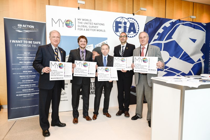 Panellists joined FIA President Jean Todt to support the MY World survey