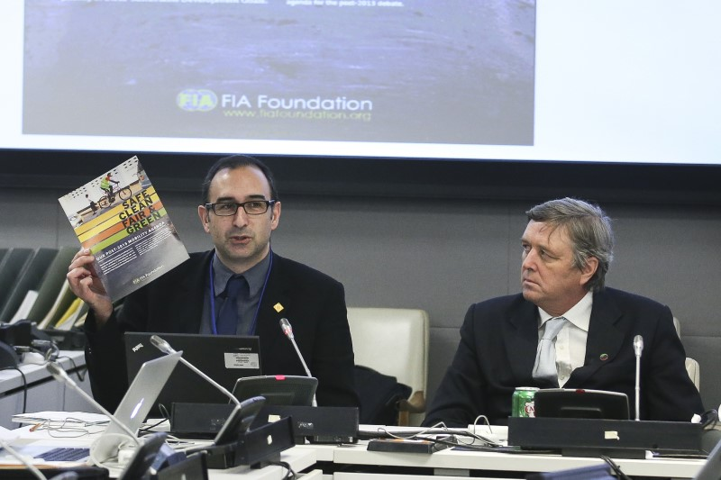 At a side event chaired by the UN Ambassador of the Netherlands, Saul Billingsley describes the FIA Foundation's post-2015 agenda