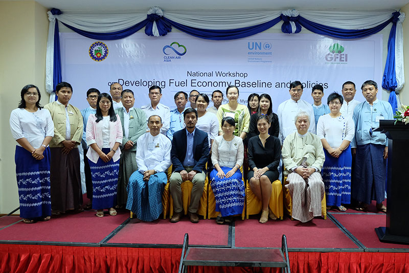 GFEI supporting Myanmar to develop vehicle fuel economy policies
