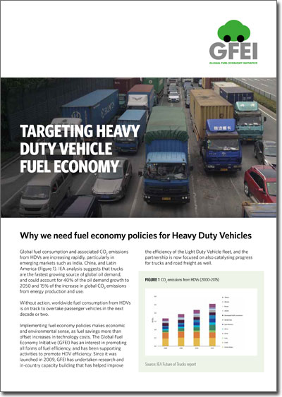 Targeting Heavy Duty Vehicle Fuel Economy