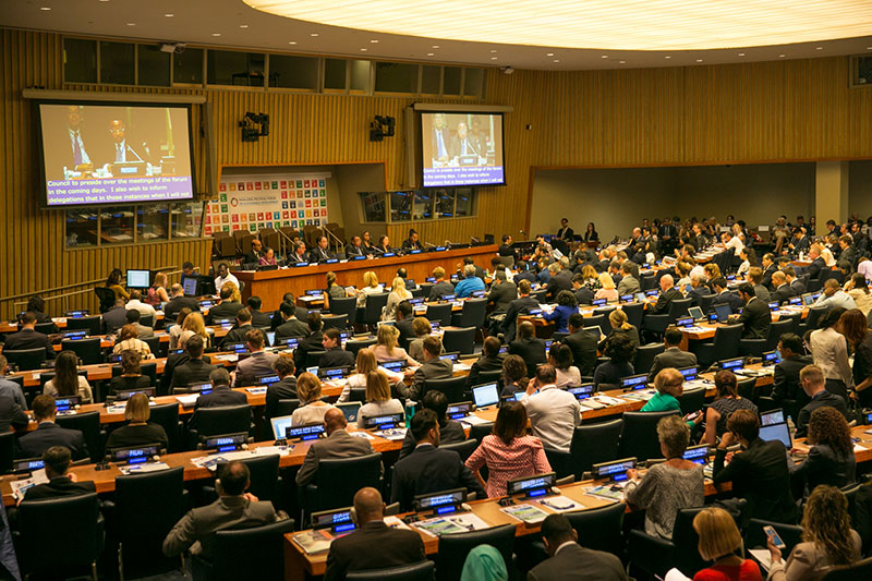 The 2018 HLPF will be held in New York in July.