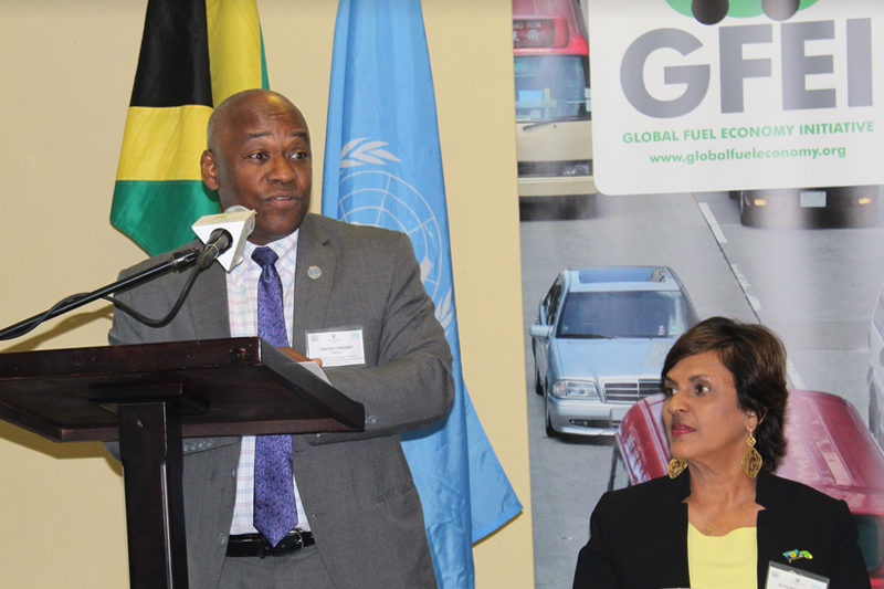 Vincent Sweeney, Head of UN Environment Caribbean Sub-Regional Office, opens the workshop.
