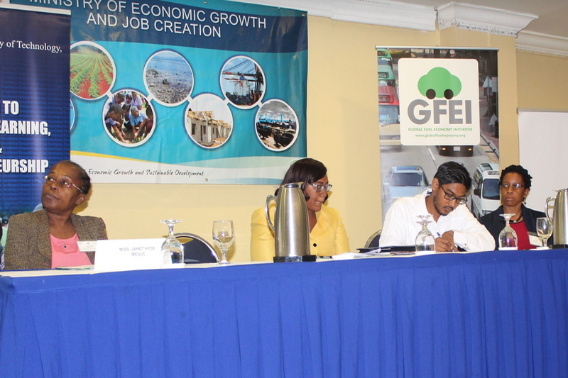The second day of the workshop discussed fuel economy policy options for Jamaica.