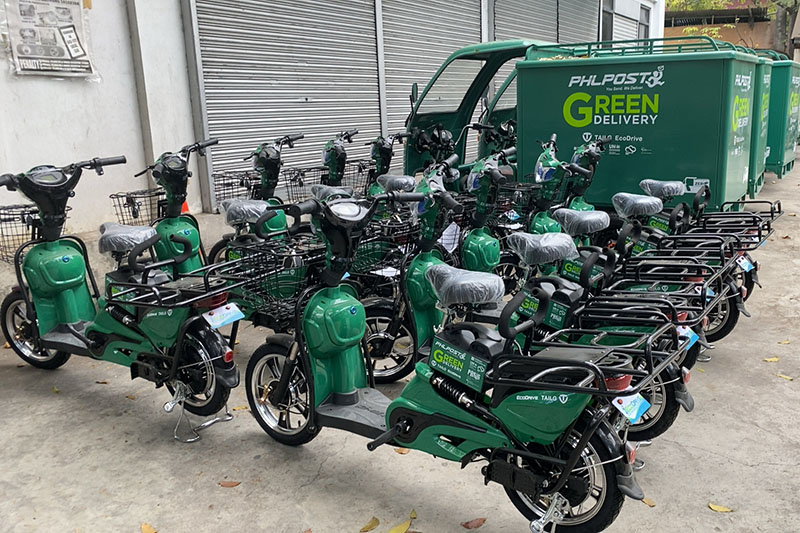 PHLPOST e-bikes. Credit: Clean Air Asia.